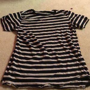 Scallop fit striped Pacsun tshirt